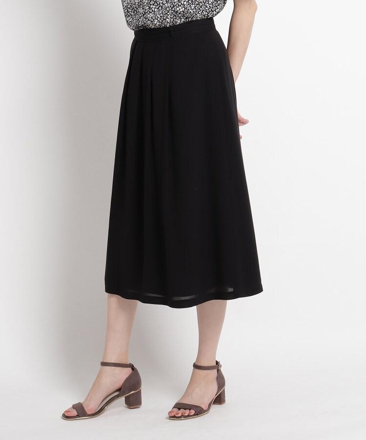 SunaUna(スーナウーナ) 【洗える】キュプラツイルミモレ丈スカート
