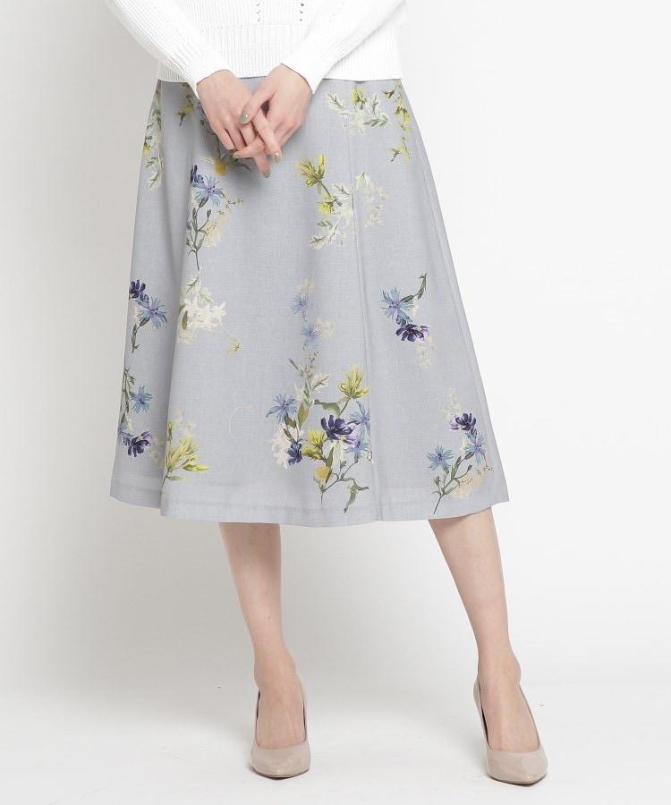 SunaUna(スーナウーナ) フラワープリントフレアスカート