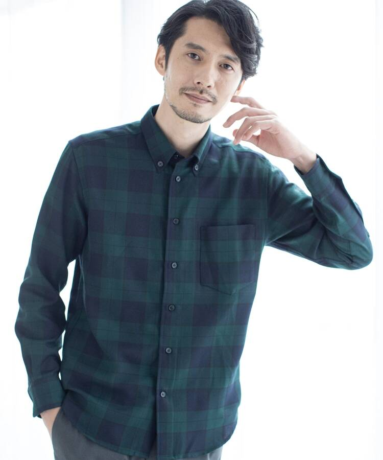 THE SHOP TK(Men)(ザ ショップ ティーケー(メンズ)) 【QUICK DRY】マウントネルシャツ