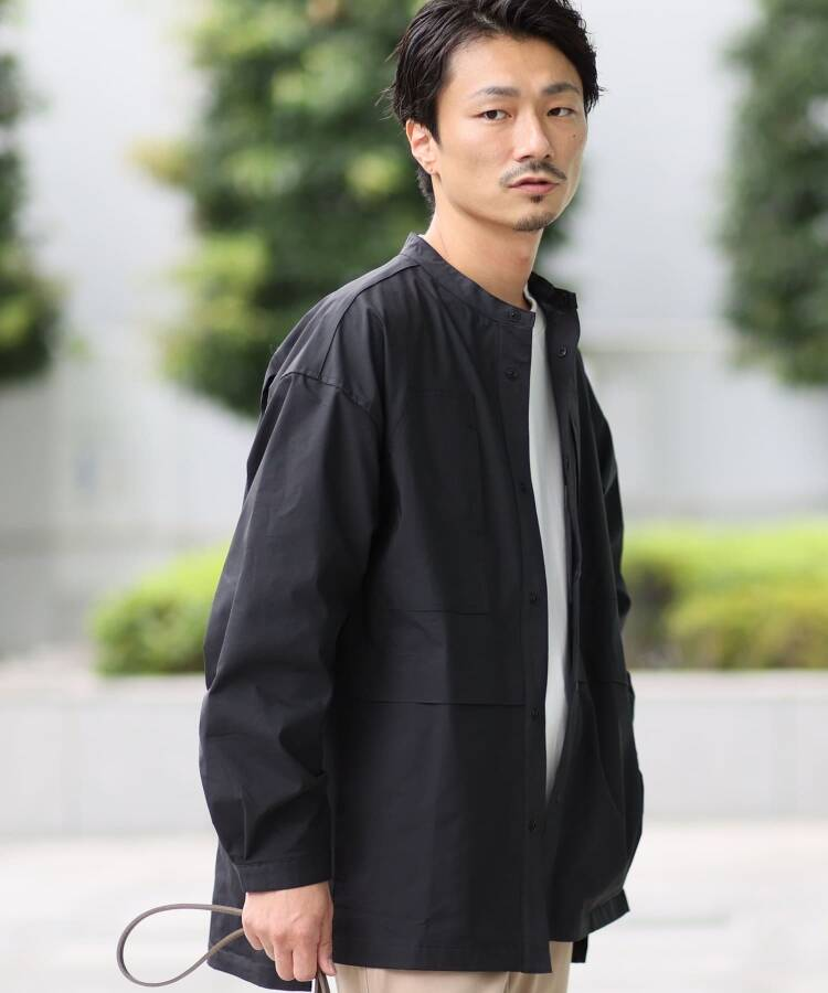 THE SHOP TK(Men)(ザ ショップ ティーケー(メンズ)) 【コールマン/Coleman別注】バンドカラーシャツ