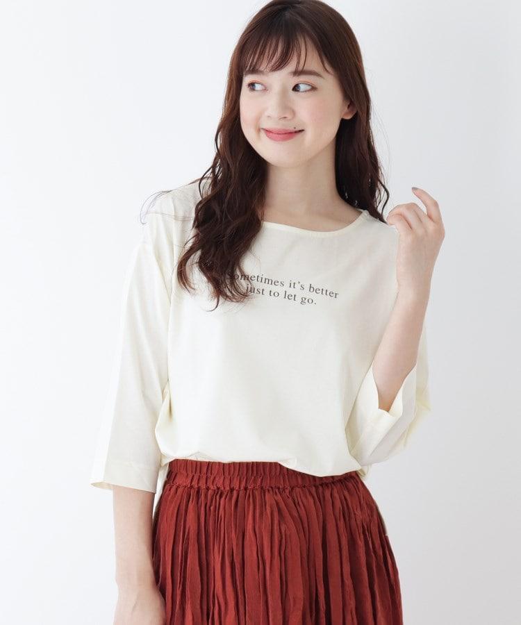 pink adobe(ピンクアドベ) 【WEB限定LLサイズあり】ロゴデザイン シルケットTシャツ