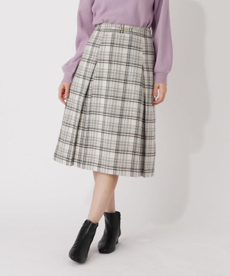 grove(グローブ) 【S-LL】クラシカルチェックビット付きスカート