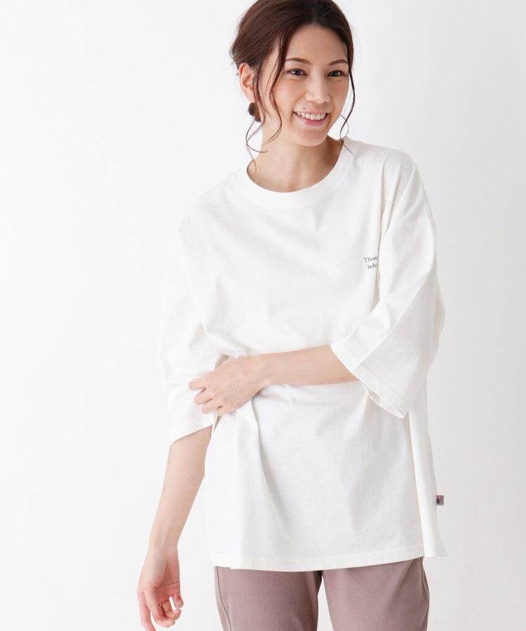 SHOO・LA・RUE(シューラルー) 【M-3L】USAコットンフォトプリントTシャツ