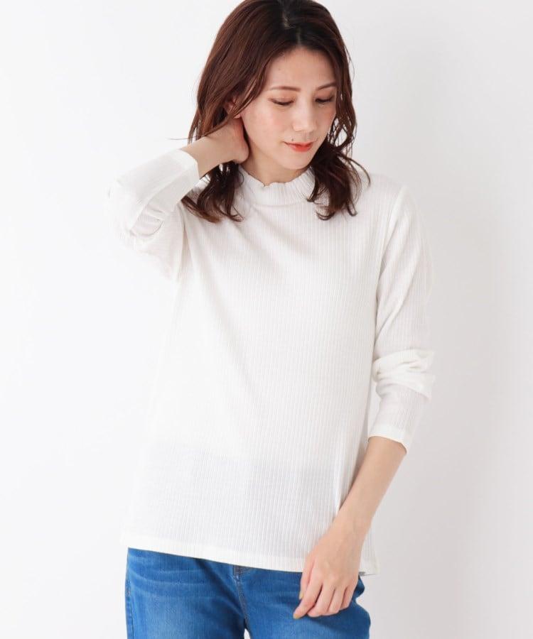 SHOO・LA・RUE(シューラルー) 【M-LL】テレコハイネックTシャツ