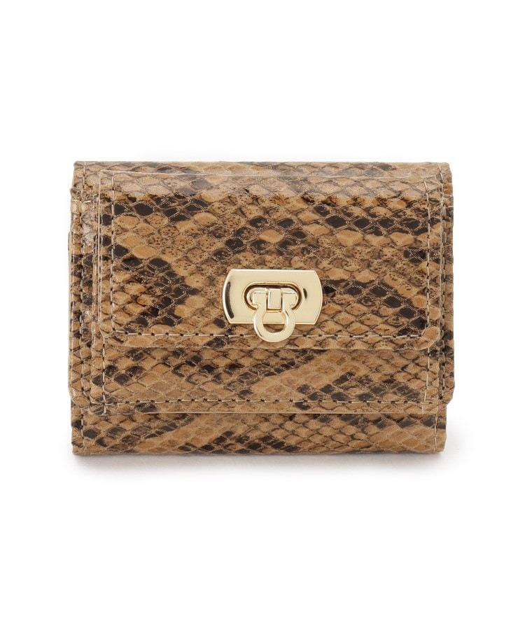 OPAQUE.CLIP(オペークドットクリップ) 三つ折りリザード調ミニ財布