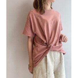 ジェット(JET)の【ウォッシャブル】天竺ツイストデザインTシャツ Tシャツ