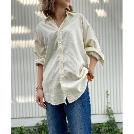 ジェット(JET)の【ウォッシャブル】コットンオープンカラーコーデュロイシャツ シャツ・ブラウス