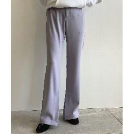 ジェット(JET)の【ウォッシャブル】ストレッチ裾スリットフレアパンツ フルレングスパンツ
