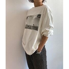 ジェット(JET)の【ウォッシャブル】フォトプリントビッグシルエットロングTシャツ Tシャツ