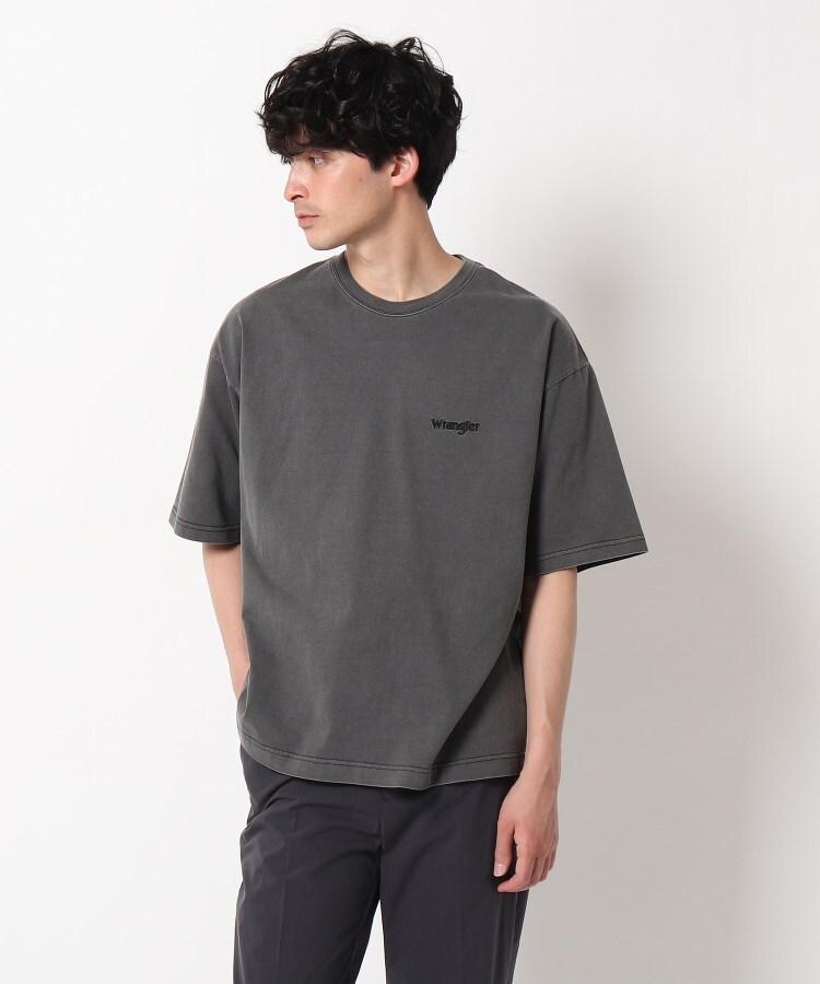 OPAQUE.CLIP MEN(オペークドットクリップ メン) Wrangler(R) PIGMENT Tシャツ