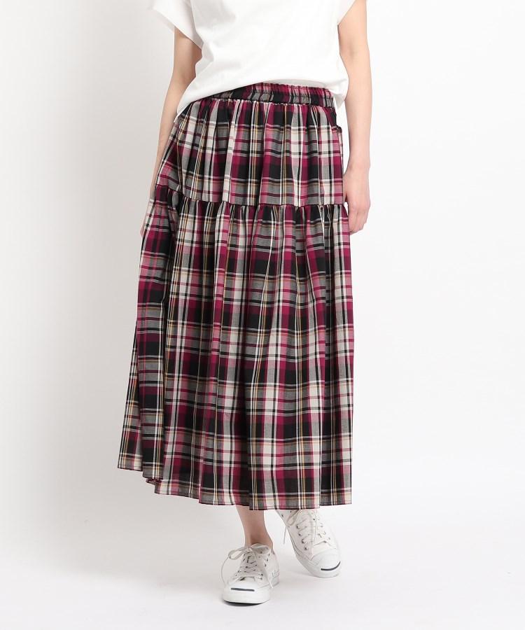 Dessin(Ladies)(デッサン(レディース)) 【XS〜Lサイズ・ウエストゴム・洗える】ティアードスカート