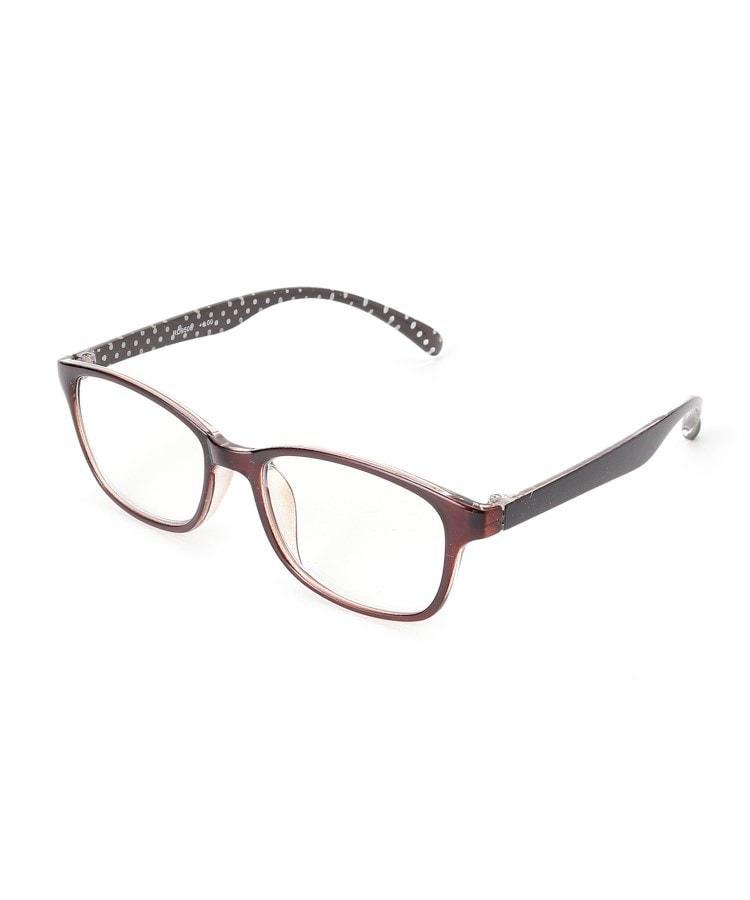 SHOO・LA・RUE/DRESKIP(シューラルー/ドレスキップ) 【老眼鏡】ドットリーディンググラス ブラウン【ブルーライト】
