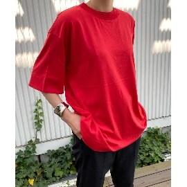 ジェット ニューヨーク(JET NEWYORK)の【ウォッシャブル】マドライコットンオーバーサイズTシャツ Tシャツ