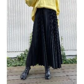 ジェット ニューヨーク(JET NEWYORK)のフェイクレザープリーツスカート ミモレスカート
