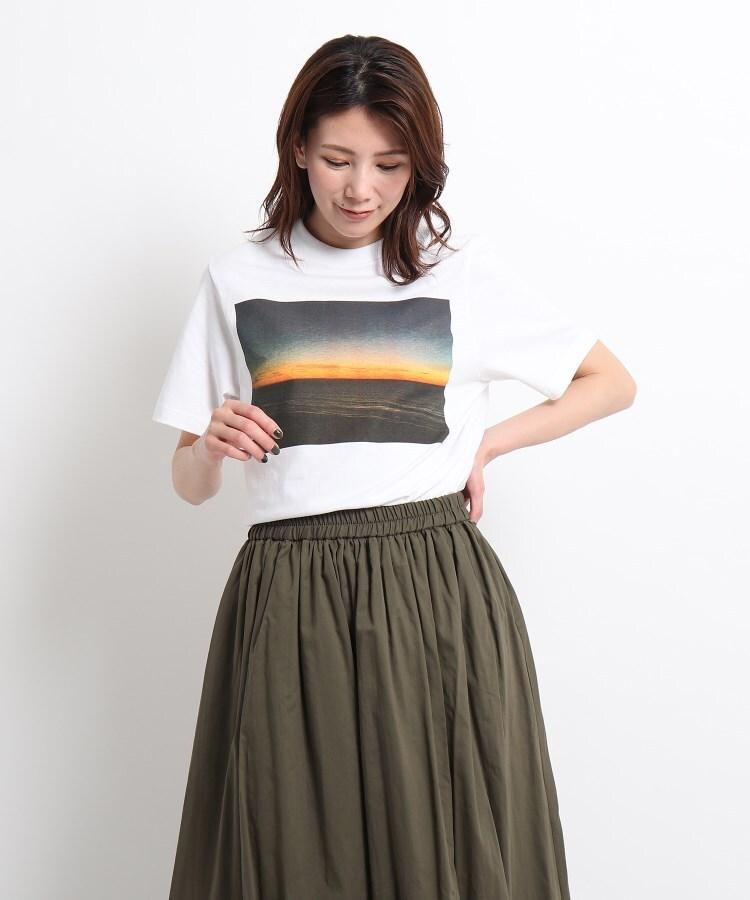 Dessin(Ladies)(デッサン(レディース)) STAR&STRIPE フォトプリントTシャツ