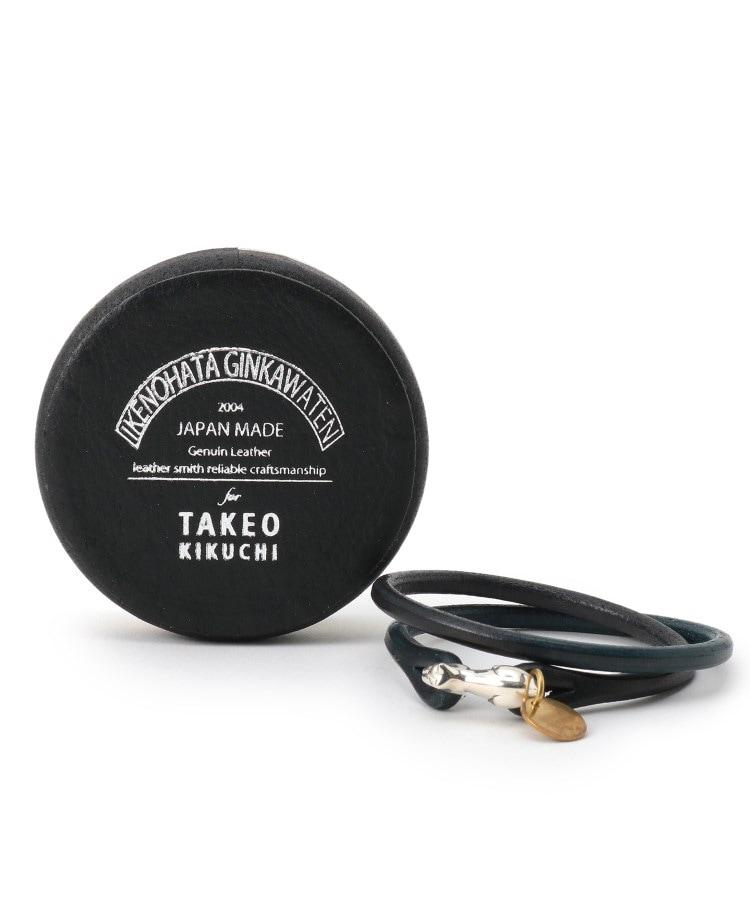 TAKEO KIKUCHI(タケオキクチ) Cramp2重巻きレザーブレスレッド