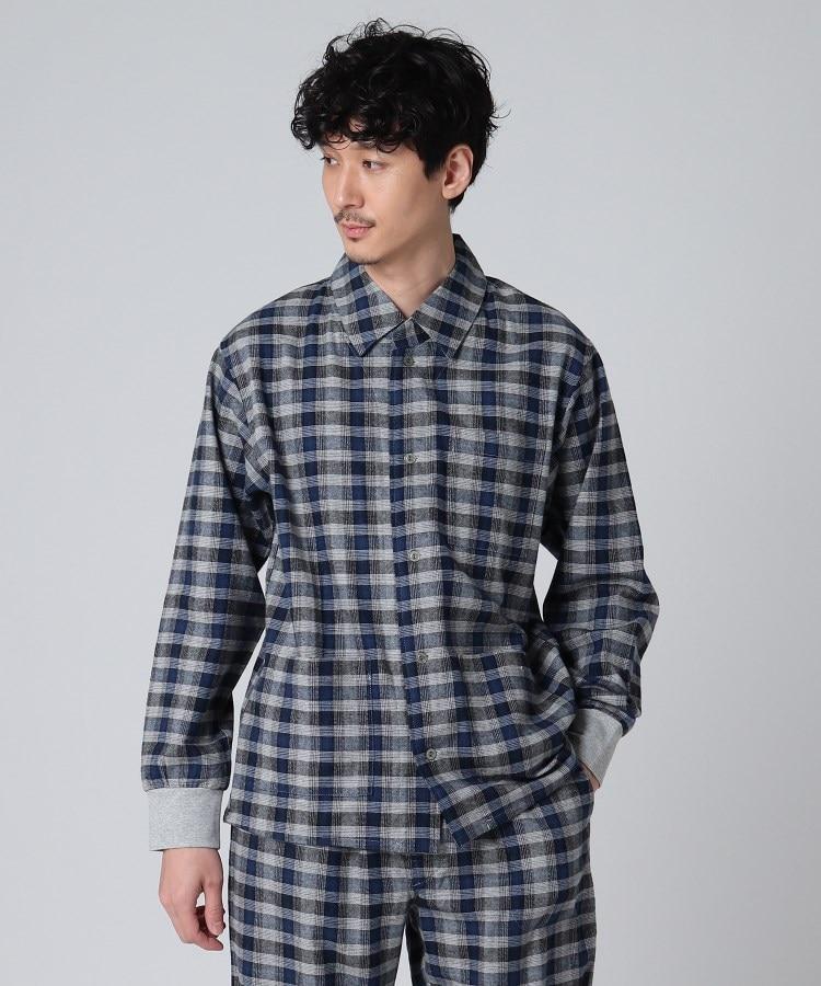 TAKEO KIKUCHI(タケオキクチ) 布帛長袖前開きシャツ