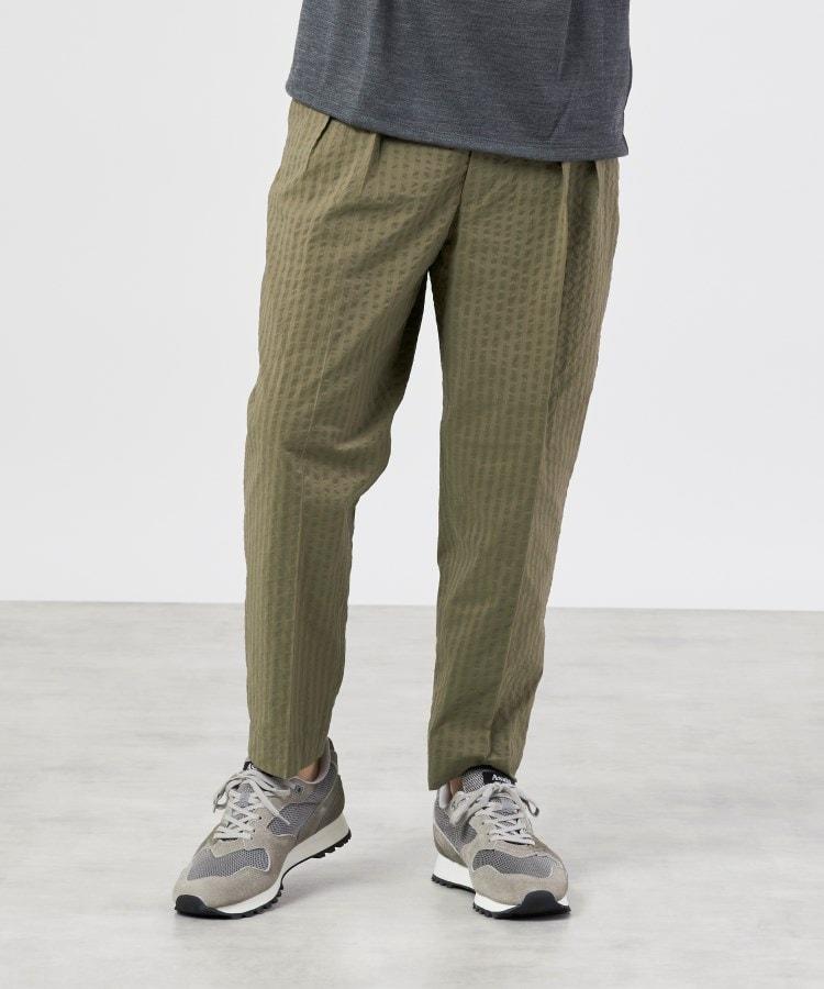 UNBUILT TAKEO KIKUCHI(アンビルト タケオキクチ) COOLMAXsucker widestripe (クールマックスサッカーワイドストライプ) パンツ