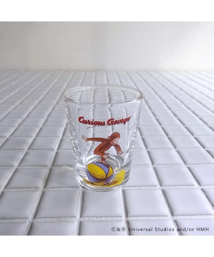 212 KITCHEN STORE(トゥーワントゥーキッチンストア) Curious George (おさるのジョージ) クラシックミニグラス ボール