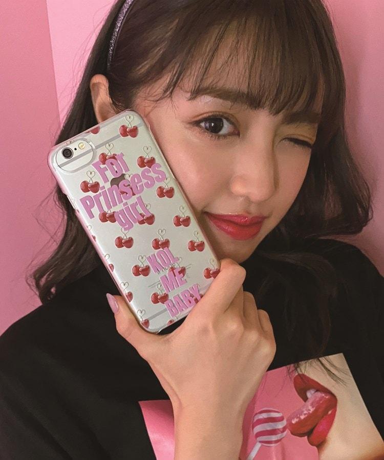 KOL ME BABY(コルミーベイビー) CHERRY クリアスマホケース(iPhone8/7/6s/6/SE第2世代対応)