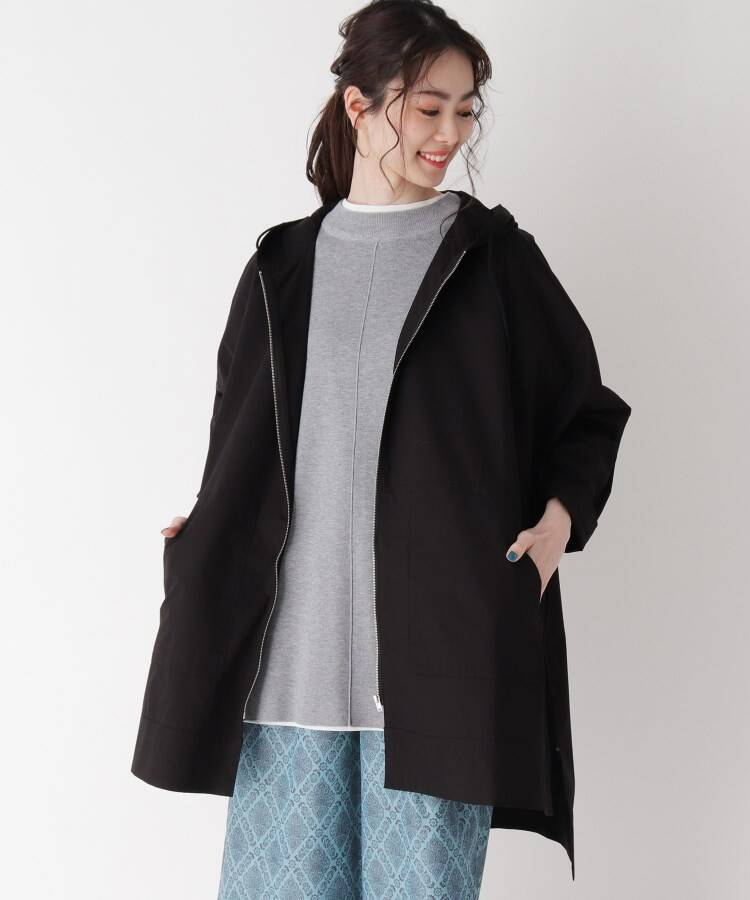 ZAMPA(ザンパ) 綾ダンプポンチョ風フーデットコート