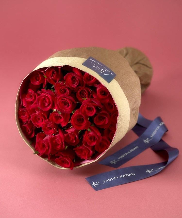 日比谷花壇(ヒビヤカダン) 30本の赤バラの花束「アニバーサリーローズ」