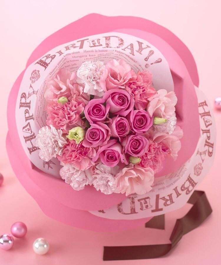 日比谷花壇(ヒビヤカダン) バラの形の花束ペタロ・ローザ「バースデーギフト」