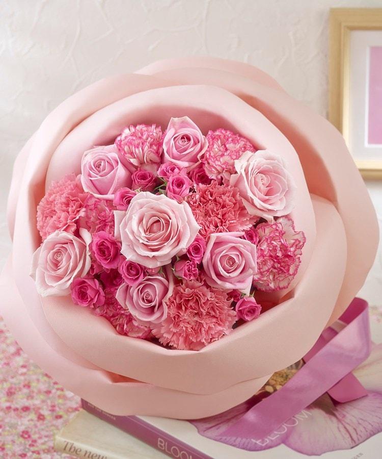 日比谷花壇(ヒビヤカダン) バラの形の花束ペタロ・ローザ「エレガントピンク」