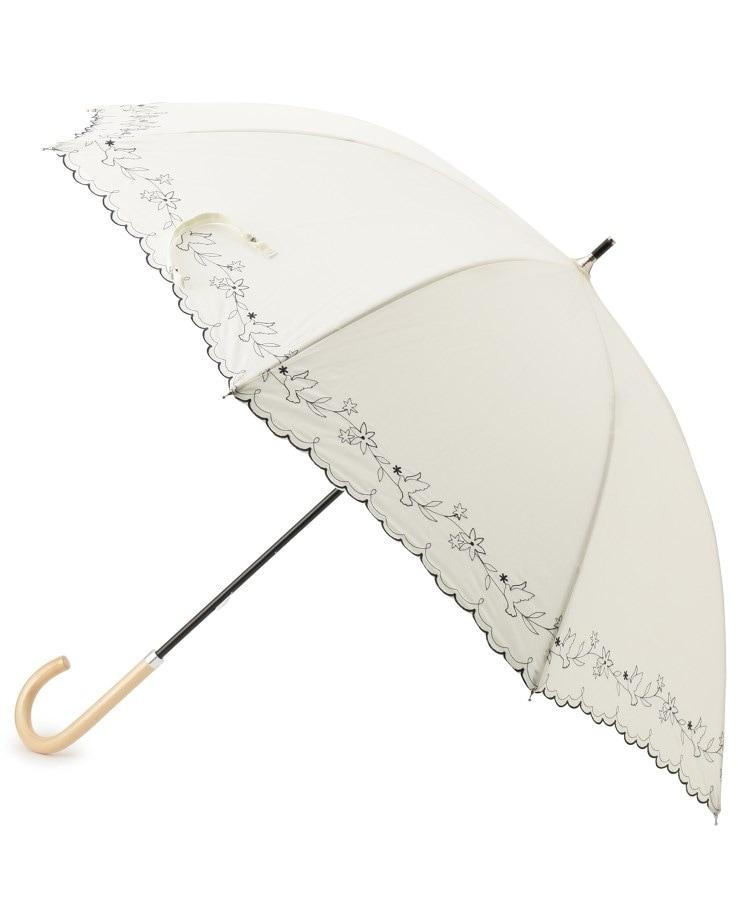 ITS' DEMO(イッツデモ) 日傘リーフ&フラワー刺繍長傘