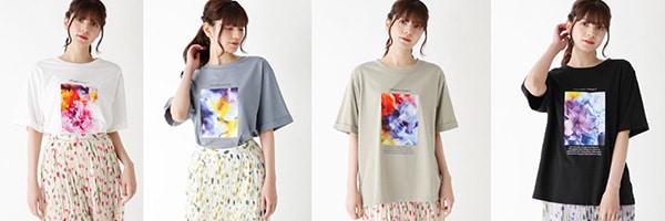 plantica アートフラワーフォトTシャツ