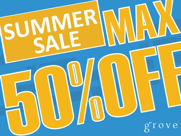 SUMMER SALE MAX50%OFF | grove(グローブ)