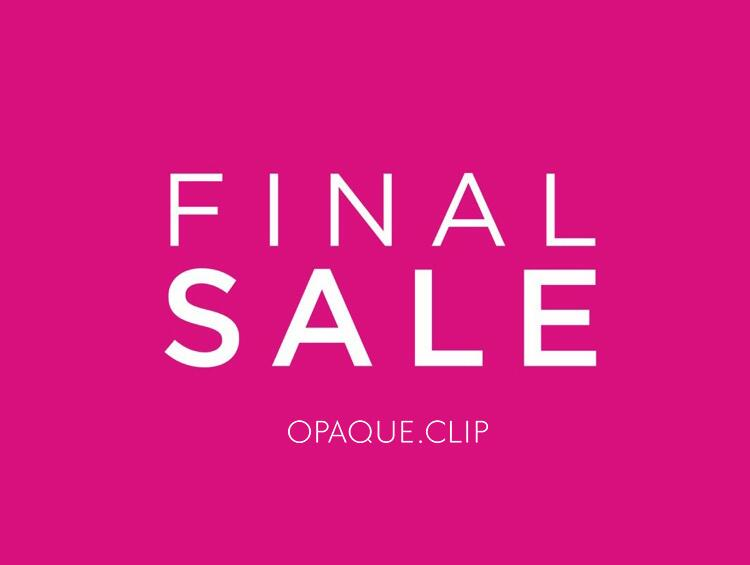 【FINAL SALE】夏SALEも後半戦!対象追加&再マークダウン続々! | OPAQUE.CLIP(オペークドットクリップ)
