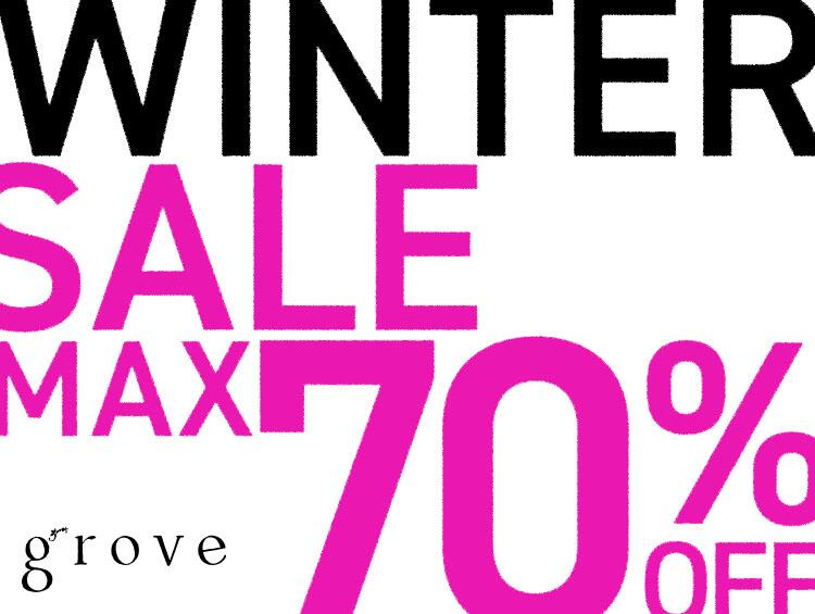 WINTER SALE MAX70%OFF | grove(グローブ)