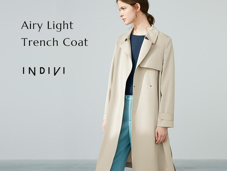 AIRY LIGHT TRENCH COAT | INDIVI(インディヴィ)