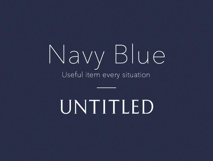 Navy Blue | UNTITLED(アンタイトル)