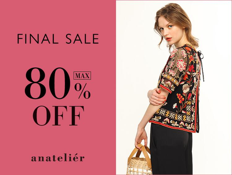 FINAL SALE ! MAX80%OFF!! | anatelier (アナトリエ)