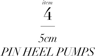 item4 PIN HEEL PUMPS
