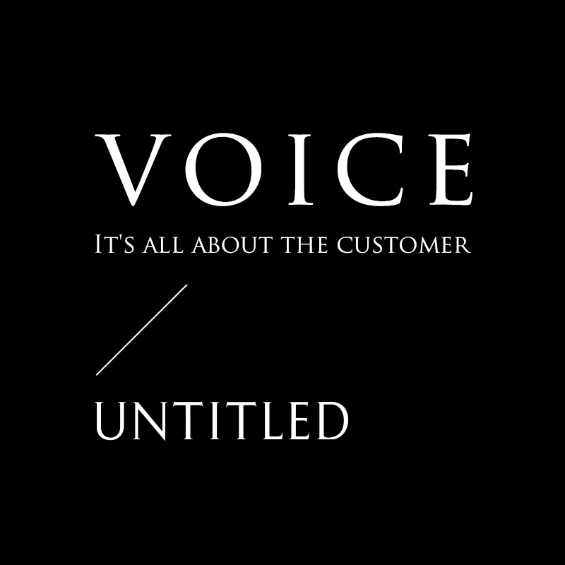 voice It's all about the customer UNTITLED