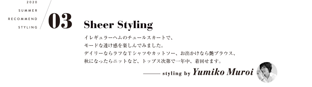 03 Sheer Styling